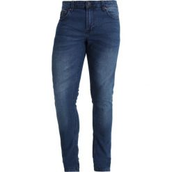 Only & Sons ONSEXTREME WARP Jeans Skinny Fit medium blue denim. Brązowe jeansy męskie relaxed fit marki Only & Sons, l, z poliesteru. Za 129,00 zł.