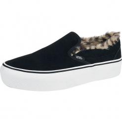 Vans Classic Slip-On Platform Suede / Fur Buty sportowe czarny. Czarne buty skate męskie Vans, z zamszu, vans classic. Za 346,90 zł.