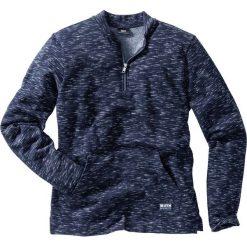 Bluza z bejsbolowym kołnierzykiem, melanżowa, Regular Fit bonprix niebieski melanż. Czerwone bluzy męskie rozpinane marki KALENJI, m, z elastanu, z długim rękawem, długie. Za 74,99 zł.