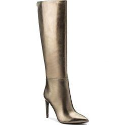 Kozaki GUESS - Lilla2 FLLI24 LEL11 BRONZ. Niebieskie buty zimowe damskie marki Guess, z materiału. W wyprzedaży za 519,00 zł.