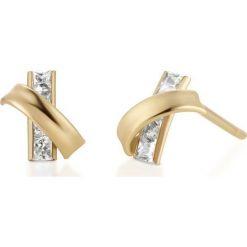 Biżuteria i zegarki: Kolczyki Złote – złoto żółte 585, Cyrkonia