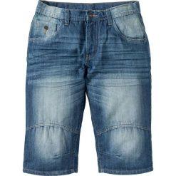 """Bermudy dżinsowe """"Loose fit"""" bonprix niebieski """"medium bleached used"""". Niebieskie bermudy męskie bonprix, z jeansu. Za 89,99 zł."""