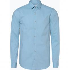 Calvin Klein - Koszula męska, niebieski. Niebieskie koszule męskie na spinki Calvin Klein, m, z haftami. Za 349,95 zł.