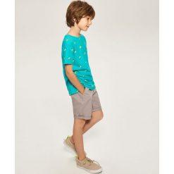 Odzież chłopięca: T-shirt z nadrukiem - Turkusowy