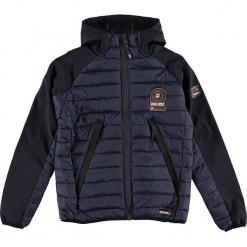 """Kurtka przejściowa """"Aube"""" w kolorze granatowym. Niebieskie kurtki chłopięce przejściowe marki Geographical Norway Kids & Women, z aplikacjami. W wyprzedaży za 226,95 zł."""