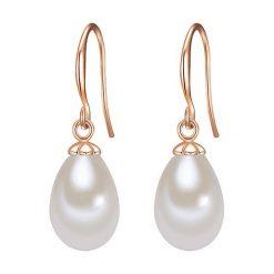 Kolczyki damskie: Pozłacane kolczyki z perłami muszlowymi