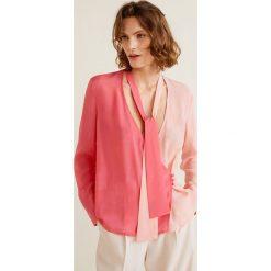 Mango - Bluzka Bicolor. Różowe bluzki nietoperze Mango, l, z materiału, eleganckie, z krótkim rękawem. Za 139,90 zł.