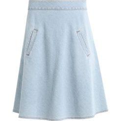 Spódniczki jeansowe: Mads Nørgaard STELLY Spódnica trapezowa light blue