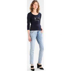 Odzież damska: Armani Exchange Bluzka z długim rękawem navy