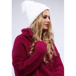 Biała czapka damska zimowa C12. Białe czapki damskie Fasardi, na zimę. Za 39,00 zł.