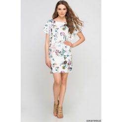 Sukienki hiszpanki: SUKIENKA Z ORYGINALNYMI RĘKAWAMI, SUK145 kwiaty