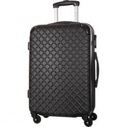 Walizka w kolorze czarnym - 36 l. Czarne walizki marki Platinium, z materiału. W wyprzedaży za 179,95 zł.
