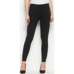 Spodnie damskie: Czarne Legginsy Trinary