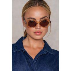 Okulary przeciwsłoneczne damskie: NA-KD Accessories Owalne okulary przeciwsłoneczne – Multicolor,Nude