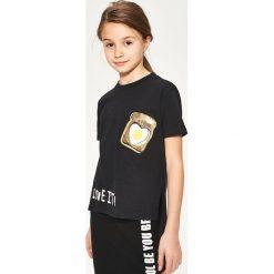 T-shirt z cekinami - Czarny - 2