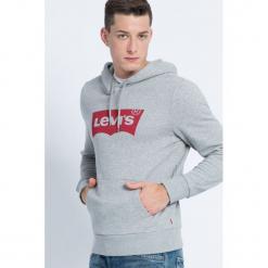 Levi's - Bluza. Szare bluzy męskie rozpinane marki Levi's®, m, z nadrukiem, z bawełny, z kapturem. Za 259,90 zł.