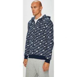 Adidas Originals - Bluza. Szare bejsbolówki męskie adidas Originals, l, z bawełny, z kapturem. W wyprzedaży za 299,90 zł.