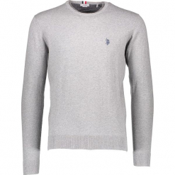 Sweter w kolorze szarym. Niebieskie swetry klasyczne męskie marki GALVANNI, l, z okrągłym kołnierzem. W wyprzedaży za 217,95 zł.