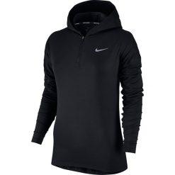Bluza do biegania damska NIKE ELEMENT HALF ZIP HOODIE / 855515-010 - NIKE ELEMENT HALF ZIP HOODIE. Czarne bluzy rozpinane damskie marki Nike. Za 207,00 zł.