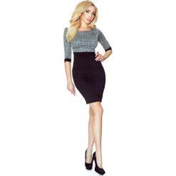 Sukienki hiszpanki: Sukienka Bodycon z Rękawem 3/4 – Kratka