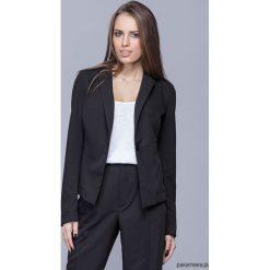 Marynarki i żakiety damskie: Klasyczny elegancki żakiet-czarny H020