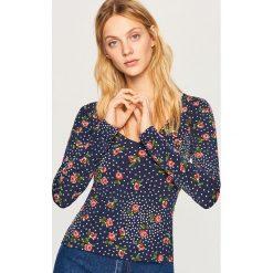 Dopasowana koszulka - Granatowy. Niebieskie t-shirty damskie Reserved, l. Za 59,99 zł.