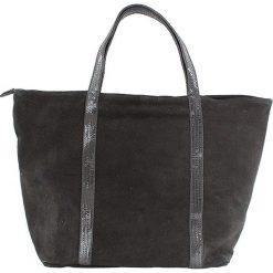 Torebki i plecaki damskie: Skórzana torebka w kolorze czarnym – 43 x 34 x 18 cm