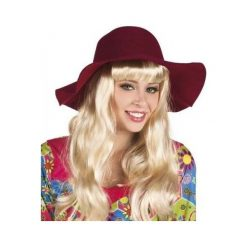 Kapelusz damski bordowy. Czerwone kapelusze damskie ASTER. Za 39,97 zł.