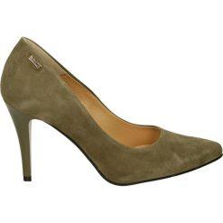 Czółenka - 1021 370 VERD. Brązowe buty ślubne damskie Venezia, ze skóry. Za 199,00 zł.