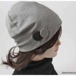 Czapka pepitka. Niebieskie czapki zimowe damskie marki WED'ZE, z materiału. Za 67,00 zł.
