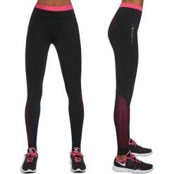 Spodnie dresowe damskie: Bas Black Spodnie damskie Inspire Czarno-różowe r. XL