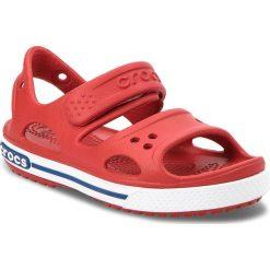 Sandały CROCS - Crocband II Sandal Ps 14854 Pepper/Blue Jean. Czerwone sandały chłopięce marki Crocs, z tworzywa sztucznego. Za 129,00 zł.