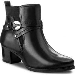 Botki CAPRICE - 9-25327-29 Black Nappa 022. Czarne buty zimowe damskie marki Caprice, z materiału, na obcasie. W wyprzedaży za 249,00 zł.