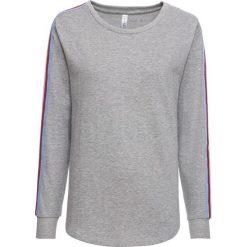 Bluza dresowa bonprix jasnoszary melanż. Szare bluzy damskie bonprix, melanż, z dresówki. Za 74,99 zł.