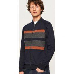 Bluza z raglanowymi rękawami - Granatowy. Niebieskie bluzy męskie rozpinane marki Reserved. Za 99,99 zł.