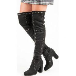ROCKOWE MUSZKIETERKI NA SŁUPKU. Czarne buty zimowe damskie SEASTAR, na słupku. Za 179,00 zł.