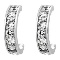 Biżuteria i zegarki: Kolczyki pół-kreole z kryształkami Swarovski