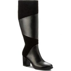 Kozaki ANN MEX - 8277 01S+01W Czarny. Czarne buty zimowe damskie marki Ann Mex, ze skóry, przed kolano, na wysokim obcasie. W wyprzedaży za 339,00 zł.