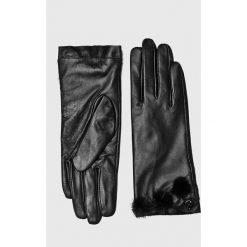 Liu Jo - Rękawiczki skórzane. Czerwone rękawiczki damskie Liu Jo, z materiału. Za 399,90 zł.