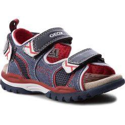 Sandały GEOX - J Borealis B.D J720RD 01014 C0735 Morski/Czerwony. Niebieskie sandały męskie skórzane marki Geox. W wyprzedaży za 179,00 zł.