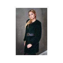 Płaszcz. Zielone płaszcze damskie pastelowe Element, na jesień, l, w paski, z futra, klasyczne. Za 450,00 zł.