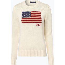 Polo Ralph Lauren - Sweter damski, beżowy. Brązowe swetry klasyczne damskie Polo Ralph Lauren, l, z bawełny, polo. Za 649,95 zł.