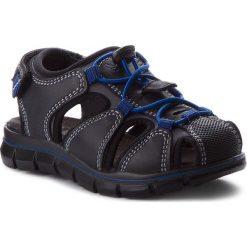 Sandały PRIMIGI - 1396311 M Nero. Czarne sandały męskie skórzane Primigi. W wyprzedaży za 179,00 zł.