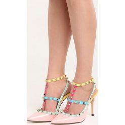 Różowe Sandały Everybody Run Now!. Czerwone sandały damskie Born2be, z lakierowanej skóry, na wysokim obcasie, na obcasie. Za 99,99 zł.