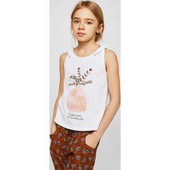 Mango Kids - Top dziecięcy Kokedama 110-164 cm. Szare bluzki dziewczęce bawełniane marki bonprix, m, melanż, z kontrastowym kołnierzykiem. Za 59,90 zł.