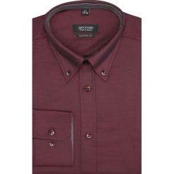 Koszula navia 2171 długi rękaw custom fit bordo. Brązowe koszule męskie marki FORCLAZ, m, z materiału, z długim rękawem. Za 69,99 zł.