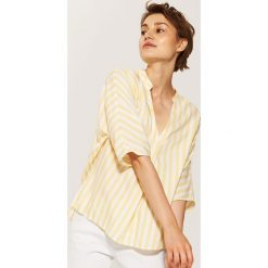 Bluzki, topy, tuniki: Bluzka z zakładką - Żółty