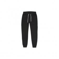 Spodnie męskie dresowe ze ściągaczami. Czarne spodnie dresowe męskie marki TXM, z bawełny. Za 29,99 zł.
