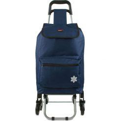"""Shopper bag damskie: Torba """"Atlas"""" w kolorze granatowym na zakupy – 42 x 92 x 35 cm"""