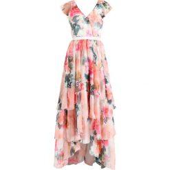 Długie sukienki: YAS YASPALLIDA DRESS  Długa sukienka deep sea coral/multicoloured
